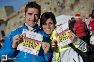 Anna Incerti e Stefano Scaini Christmas run'13